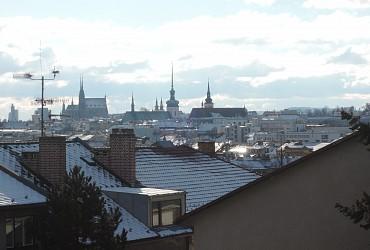 zimní výhled na centrum města