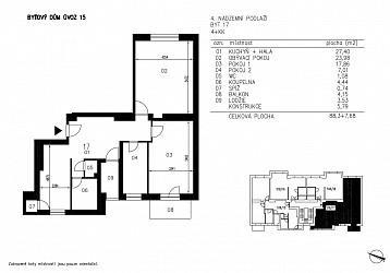 Prodej bytu 4+kk 88 m2 s balkonem a lodžií, Úvoz.