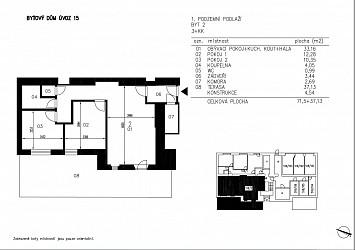 Prodej bytu 2+1 s terasou, Úvoz.