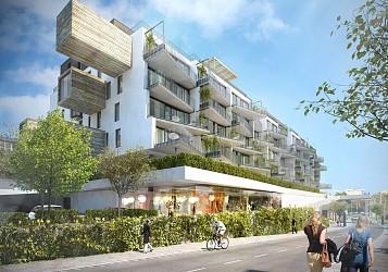 Prodej novostavby komerčního prostor 149 m2, Polyfunkční dům Letná.