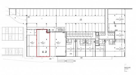 Prodej novostavby komerčního prostoru 193 m2 v polyfunkčním domě Letná.