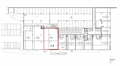 Prodej novostavby komerčního prostoru 219 m2 v polyfunkčním domě Letná.