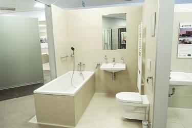 vzorová koupelna  - koupelnové studio Ptáček