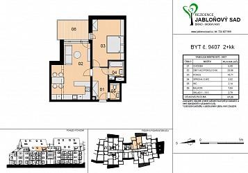 Prodej novostavby bytu 2+kk v Moravanech